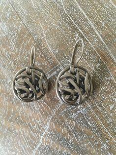 Fabulous Intertwined Weaved Celtic Knot Earrings from Silpada in Oxidized. 92…