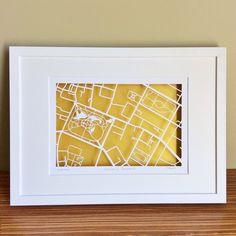 BBpapercuts make papercut maps of Cities, Towns and Villages. Dublin Map, Ireland Map, Map Shop, First Wedding Anniversary, Irish Art, Custom Map, Us Map, Drawing Skills, Technical Drawing
