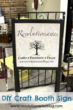 Revolutionaries: DIY Craft Booth Sign