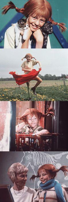 Pippi Langkous - the tv-series based on Astrid Lindgren's famous children's books about Pippi Longstocking. - loved Pippi when I was a child. Pippi Longstocking, Primer Video, Redheads Freckles, My Childhood Memories, Music Tv, Retro, I Movie, Childrens Books, Good Books