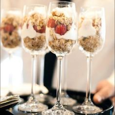 Classy parfait mmm....my favorite granola & yogurt
