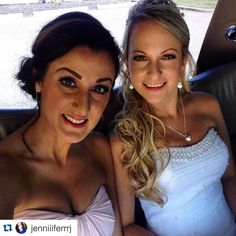 Our #jigsawforhair beautiful bride and bridesmaid! Hair by @tawshadawn and @pams_beauties, #makeup by Bekki #Repost @jenniiiferrrj ・・・ The Gorgeous Bride and I #carlingandtyler2015