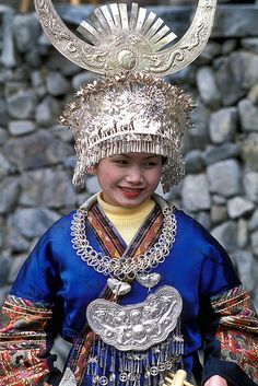 China | Miao Costume, Langde, Guizhou | © Peace On Earth * 1500 free paper dolls at international artist Arielle Gabriels The International Paper Doll Society also free Chinese paper dolls The China Adventures of Arielle Gabriel *