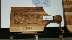 Turn your cherished hand written recipes into a family heirloom and keepsake! Great for family gifts and most popular for Christmas and Mother's day!