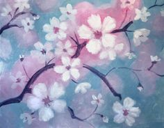 Paint Nite | Wild Willy's Burgers 2/11/14 CHERRY BLOSSOMS Originally created for Paint Nite by Kristina Elizabeth