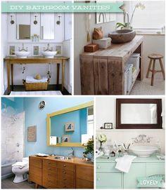Wouldn't it be Lovely: DIY Bathroom Vanities