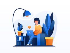 Fashion Illustration Design Work 2 dribbble 01 - Hi guys, What you see in front of you, is the second illustration from our awesome pack. This is a woman in more relaxed working environment, one could use it to illustrate a home based work stat. Abstract Illustration, Flat Design Illustration, People Illustration, Character Illustration, Graphic Illustration, Vector Character, Character Design, Web Design, Design Layouts