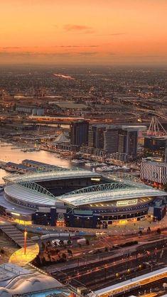 Etihad Stadium in Manchester England Home of Manchester City Manchester City, Etihad Stadium Manchester, Manchester Football, Manchester England, Soccer Stadium, Football Stadiums, Man City Stadium, Football Gear, College Basketball