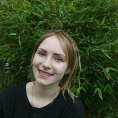 #nature #outside #blonde #dreadlocks #dreads #short #hair #smile #hairliketreeroots #pale #tumblr