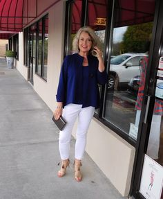 Fifty, not Frumpy: Blue And White On Date Night