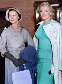 Marilyn with Vivien Leigh!!