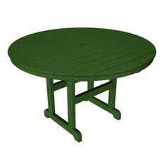 Polywood® Recycled Plastic 48 in. Round Dining Table, Green