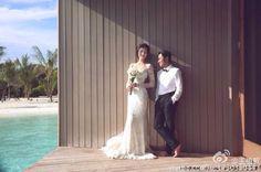 Ms Leanne Li  wearing Navona for her pre-wedding photoshoot in Maldives