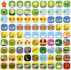 De uitgebreide basisset, met 81 kleurrijke pictogrammen Instant Win Sweepstakes, World Book Day Costumes, Baby Mattress, Toddler Schedule, Week Planner, Kids Board, Baby Play, Kids Education, Social Platform