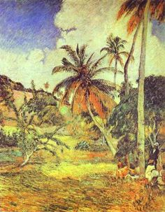 Palm trees on Martinique, Oil On Canvas by Paul Gauguin (1848-1903, France)
