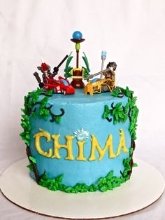"Sara Elizabeth: ""Chima and Chocolate"":  Lego Chima Buttercream-Frosted Cake."