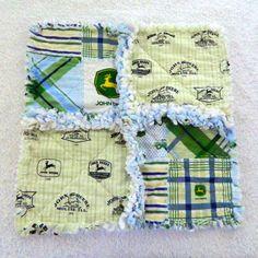 John Deere Small Baby Rag Blanket