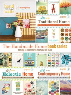 The very best and most inspiring book series on How To decorate your home with Handmade Items a from Art to Frames to Clocks- you name it! Frame It All and feel really good about making it yourself. My Favorite blog. Www.thehandmadehome.net