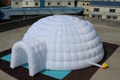 'Doesn't melt' guarantee :) - Igloo dome tent, LED lights for party events
