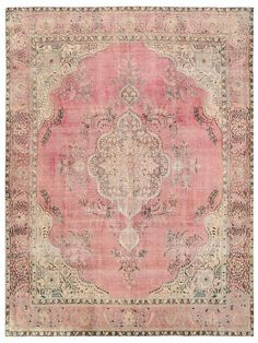 Vintage Persian Rug 12.4 X 9.4 FT 377 X 287 CM by RetroRugs: