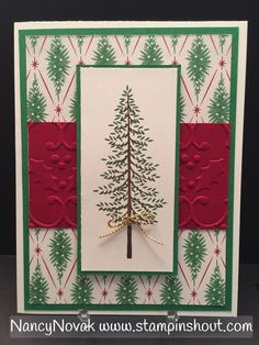 Christmas Card using Stampin Up Thoughtful Branches