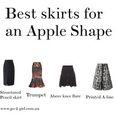 """Best skirts for an Apple Shape"" by go-2-girl on Polyvore #applebody"