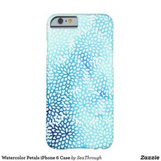 Watercolor Petals iPhone 6 Case @zazzle #zazzle #phone #phonecase #case #shop #shopping #fashion #style #tech #products #accessory #accessories #gift #gifting #giftidea #gifts #men #women #buy #sale #blue #pattern #abstract #water #circles #petals #petal #flower #blooms #Bloom