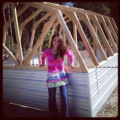 Ana White's free plans for building a Barn Greenhouse Would use it as a small animal barn!