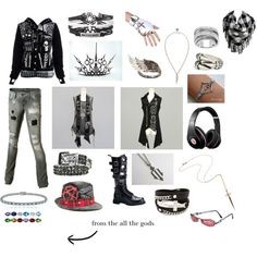 my oc outfit by dragon5678 on Polyvore featuring Volcom, Demonia, Rachel Roy, Icz Stonez, AS29, Simon Frank, Rock Rebel, Naoto and INC International Concepts
