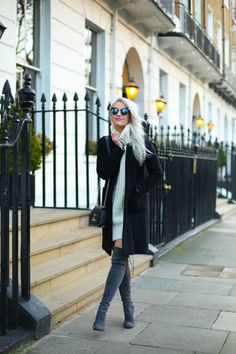 I think this may be my favourite look this Winter! These Stuart Weitzman boots were such a brilliant investment for the weather!