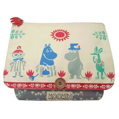 The Moomin Spring Wash Bag by Disaster Designs is an enchanting wash bag, featuring Tove Jansson's beautiful illustrations from her world famous Moomin books.