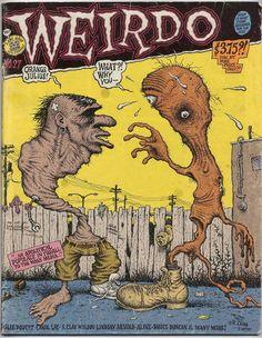 Weirdo underground comix, art by Robert Crumb Robert Crumb, Comic Book Covers, Comic Books Art, Book Art, Church Of The Subgenius, Fritz The Cat, Alternative Comics, Vintage Comics, E Design