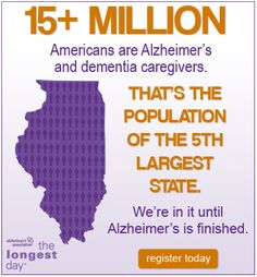15 million Americans are Alzheimer's and dementia caregivers Alzheimer Care, Dementia Care, Alzheimer's And Dementia, Alzheimer's Disease Facts, Alzheimer's Association, Alzheimers Awareness, Aging In Place, Elderly Care, New Thought