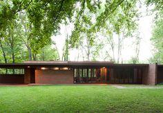 Goetsch-Winckler House. Okemos, Michagan. 1940. Usonian Style. Frank Lloyd Wright