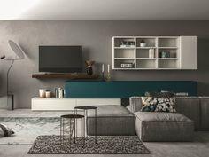 Parete attrezzata componibile SLIM 109 Collezione Slim by Dall'Agnese | design Imago Design, Massimo Rosa