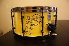7x14 10 Ply #maple yellow satin with custom #millhouse artwork. #thesimpsons #yellow #drums