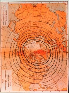Late nineteenth-century map showing extent of observation of Aurora borealis. Image courtesy of Collection of Dr. Herbert Kroehl, NGDC. National Oceanic and Atmospheric Administration, Department of Commerce. #flatearth