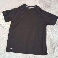 Starter Mens Shirt Size Large 42-44 Black Regular Fit Core Tee Athletic Dri Star #Starter #ShirtsTops