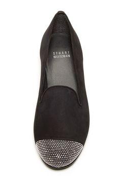 so chic. stuart weitzman studded-toe flats.