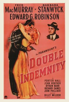 DOUBLE INDEMNITY Movie Poster Barbara Stanwyck by ArtDecoGallery