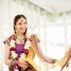 In India, the custom is to exchange garlands instead of rings.