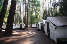 1000 ideas about canvas tent on pinterest wall tent for Half dome tent cabins