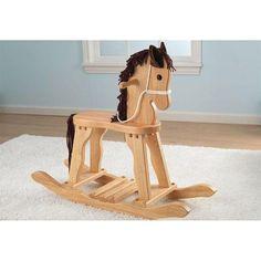 Juguete de madera balancín mecedora con forma de caballito. Fabricado en madera ideal para niños y niñas y para decoración de habitaciones infantiles.