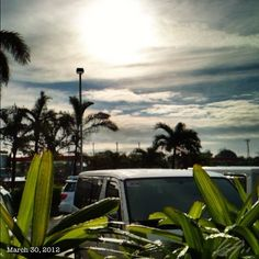 雨上がりな朝日 After the #rain #morning #sun #sky #cloud #philippines #空 #雲