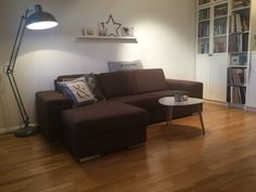 Lamp by the sofa. Fun and cool. Sofa, Couch, Sweet Home, Cool Stuff, Fun, Furniture, Home Decor, Settee, Settee
