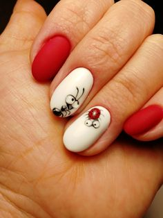 Cute Toe Nails, Hot Nails, Fancy Nails, Hair And Nails, Nail Swag, Gel Nail Art, Nail Manicure, Short Red Nails, Picasso Nails