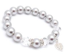Charm Bracelets – Pearl Silver Bracelet – a unique product by Blackif on DaWanda