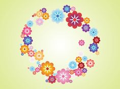 Floral Wreath Vector free