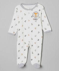 Look at this #zulilyfind! René Rofé Baby White 'Lil Boy' Fox Footie by René Rofé Baby #zulilyfinds