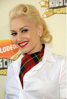 My favorite hairstyle when I don't have bangs - Gwen Stefani - vintage hair